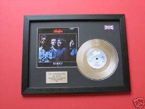 "THE STRANGLERS - No Mercy 7"" platinum Disc with Cover"